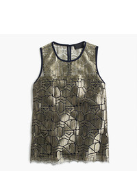 J.Crew Collection Deco Shirt In Metallic French Lace