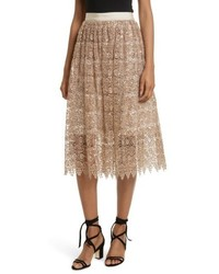 Alice + Olivia Metallic Lace Skirt