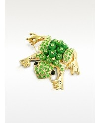 A-Z Collection Az Collection Green Frog Brooch