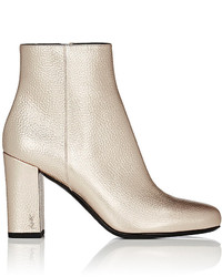 Saint Laurent Babies Grained Leather Ankle Boots