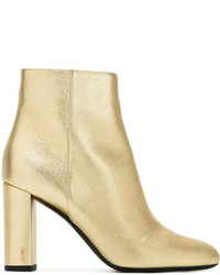 Saint Laurent Block Heel Ankle Boot