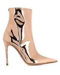 Elisabetta Franchi Laminated Low Cut Boots