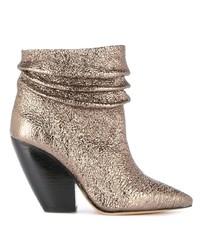 IRO Metallic Ankle Boots