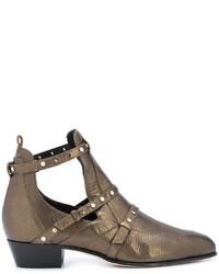 Jimmy Choo Metallic Ankle Boots