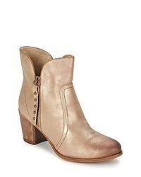 Tamaris Agnita Taupe Metallic Low Ankle Boots