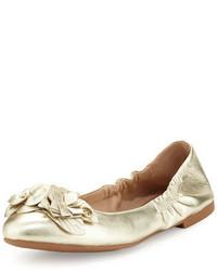 Tory Burch Blossom Metallic Ballerina Flat