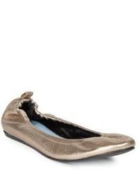 Lanvin Classic Metallic Leather Ballet Flats