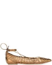 Casadei Woven Ballerina Flats