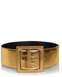Saint Laurent Carre Buckle Corset Leather Belt