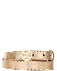 Tory Burch Metallic Leather Belt
