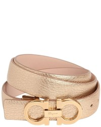 Salvatore ferragamo 25mm grained leather belt medium 1033615