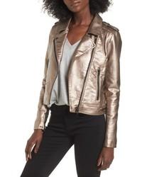 Blank NYC Blanknyc Metallic Faux Leather Moto Jacket