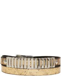 MCQ Alexander Ueen Gold Mini Bullet Wrap Bracelet