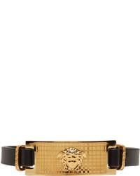 Versace Black Gold Medusa Bracelet