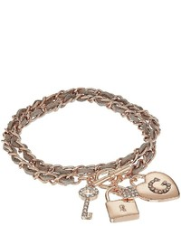 GUESS Woven Chain Wrap Bracelet With Charms Bracelet