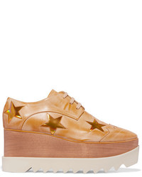 Stella McCartney Faux Leather Platform Brogues Gold