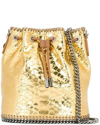Gold Leather Bucket Bag