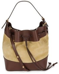 Loewe Midnight Leather Suede Bucket Bag