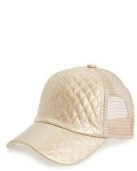 Metallic Quilted Baseball Cap Metallic