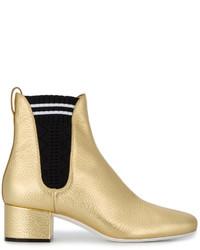 Fendi Gold Chelsea Boots