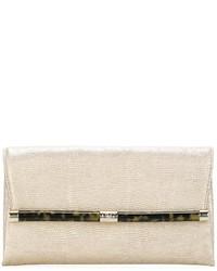 Diane von Furstenberg Lizard Skin Effect Clutch Bag
