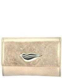 Diane von Furstenberg Metallic Card Case