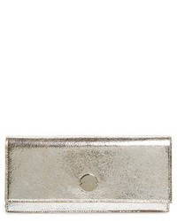 Jimmy Choo Fie Metallic Leather Clutch Metallic