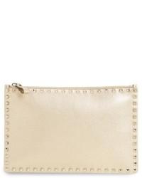 Garavani large rockstud leather pouch medium 4912990