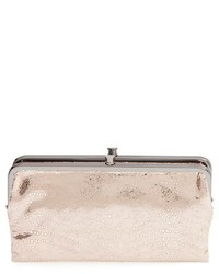 Hobo Lauren Leather Double Frame Clutch Red