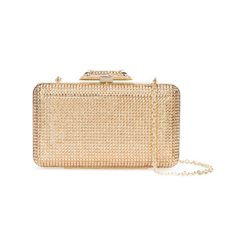 Inge Christopher Metallic Box Clutch