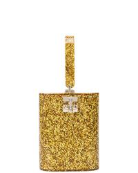 Edie Parker Metallic Glitter Bag