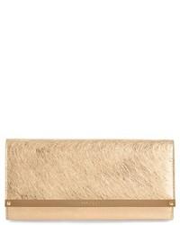 Milla etched metallic spazzolato leather flap clutch medium 3996420