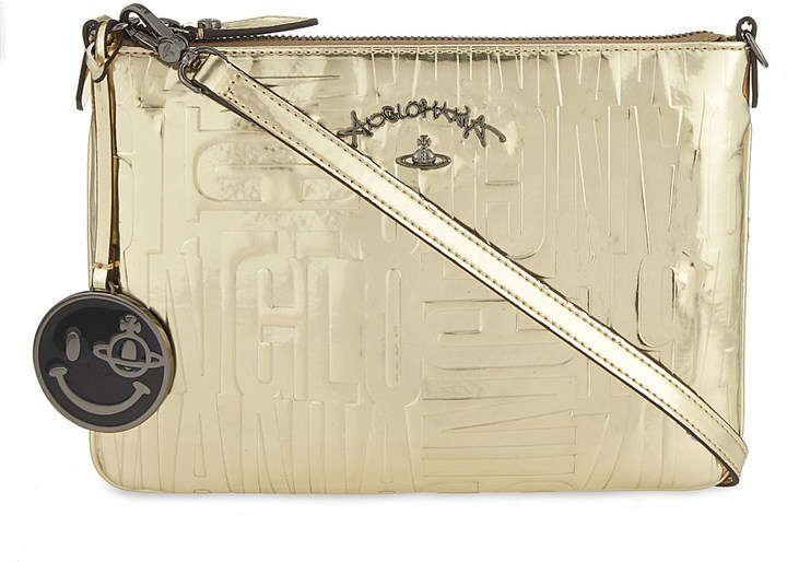 af16f3926e ... Vivienne Westwood Anglomania Turner Text Embossed Cross Body Bag ...