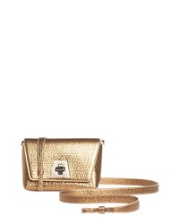 Akris Anouk Little Day Hammered Leather Crossbody Bag