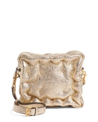 Anya Hindmarch Chubby Cube Crinkled Metallic Leather Crossbody Bag