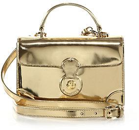 Gold Leather Crossbody Bags Ralph Lauren Collection Ricky Mini Metallic Bag