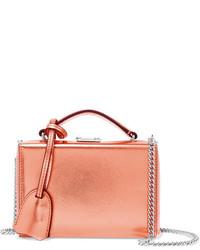 MARK CROSS Grace Mini Metallic Textured Leather Shoulder Bag Bronze