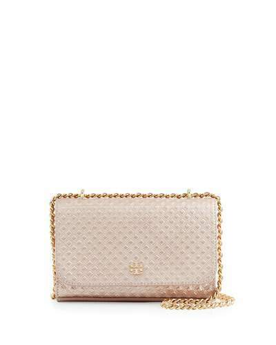 78cfe9183ff7 ... Crossbody Bags Tory Burch Marion Embossed Metallic Shrunken Shoulder  Bag Rose Gold ...