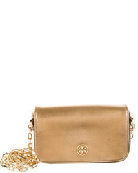 Tory Burch Metallic Saffiano Leather Crossbody Bag