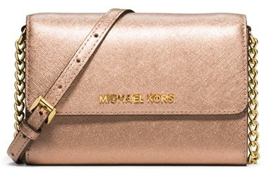 6d76ccabd5c1 ... MICHAEL Michael Kors Michl Michl Kors Jet Set Large Phone Saffiano Leather  Crossbody Bag ...