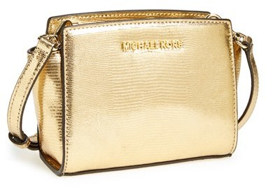 d03b43842de1 MICHAEL Michael Kors Michl Michl Kors Mini Selma Metallic Leather Crossbody  Bag, $198 | Nordstrom | Lookastic.com