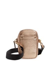 Treasure & Bond Murphy Metallic Leather Crossbody Bag