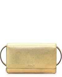 Prada Saffiano Lux Mini Crossbody Bag Gold