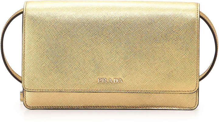 99347c60d0 ... Leather Crossbody Bags Prada Saffiano Lux Mini Crossbody Bag Gold ...