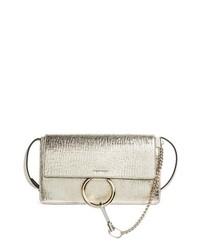 Chloé Small Faye Metallic Leather Shoulder Bag