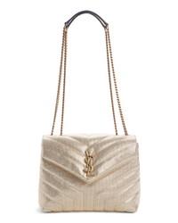 Saint Laurent Small Metallic Leather Shoulder Bag