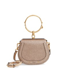 Chloé Small Nile Bracelet Metallic Leather Crossbody Bag