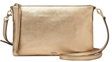ec6120c65ed Fossil Sydney Top Zip Leather Crossbody Bag