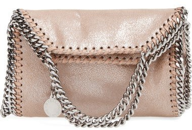 ... Stella McCartney Tiny Falabella Metallic Faux Leather Crossbody Bag  Grey ... cccaec8d70c7b