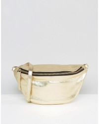 Asos Leather Metallic Classic Fanny Pack